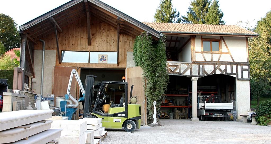 Atelier de hubert Gardere, tailleur de pierre