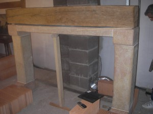Encadrement de cheminee