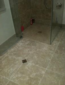 Dallage de la douche