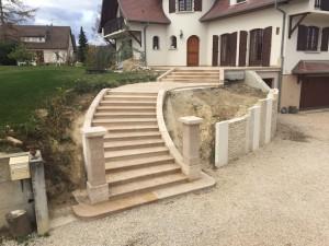 Escalier et dallage