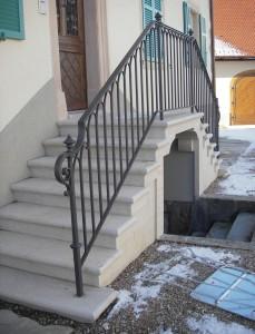 Vue sur un côté de l'escalier