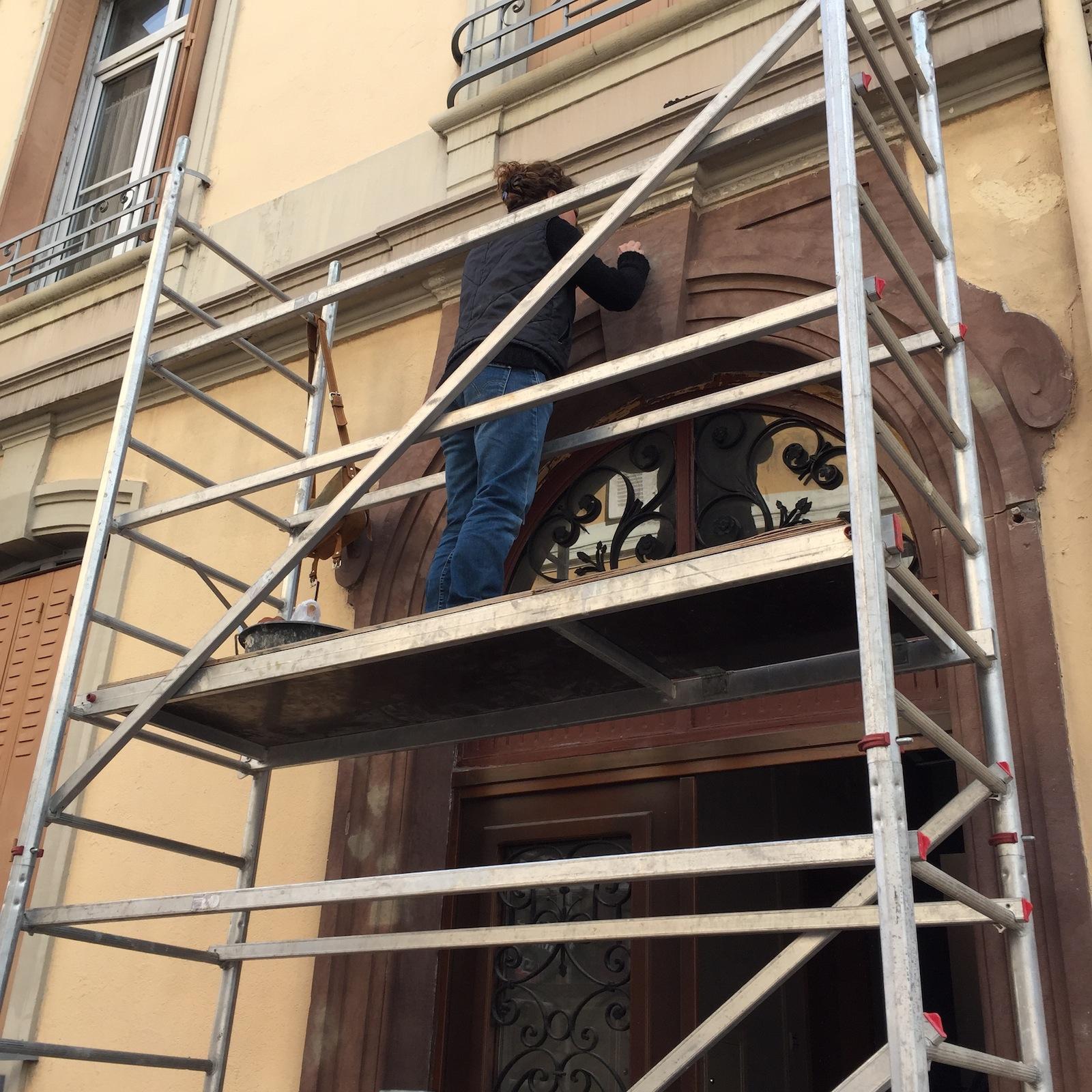 Renovation encadrement de porte