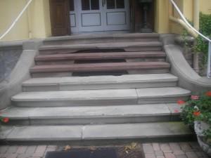 Escalier avant la restauration