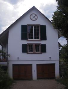 Vue sur le côté de la maison