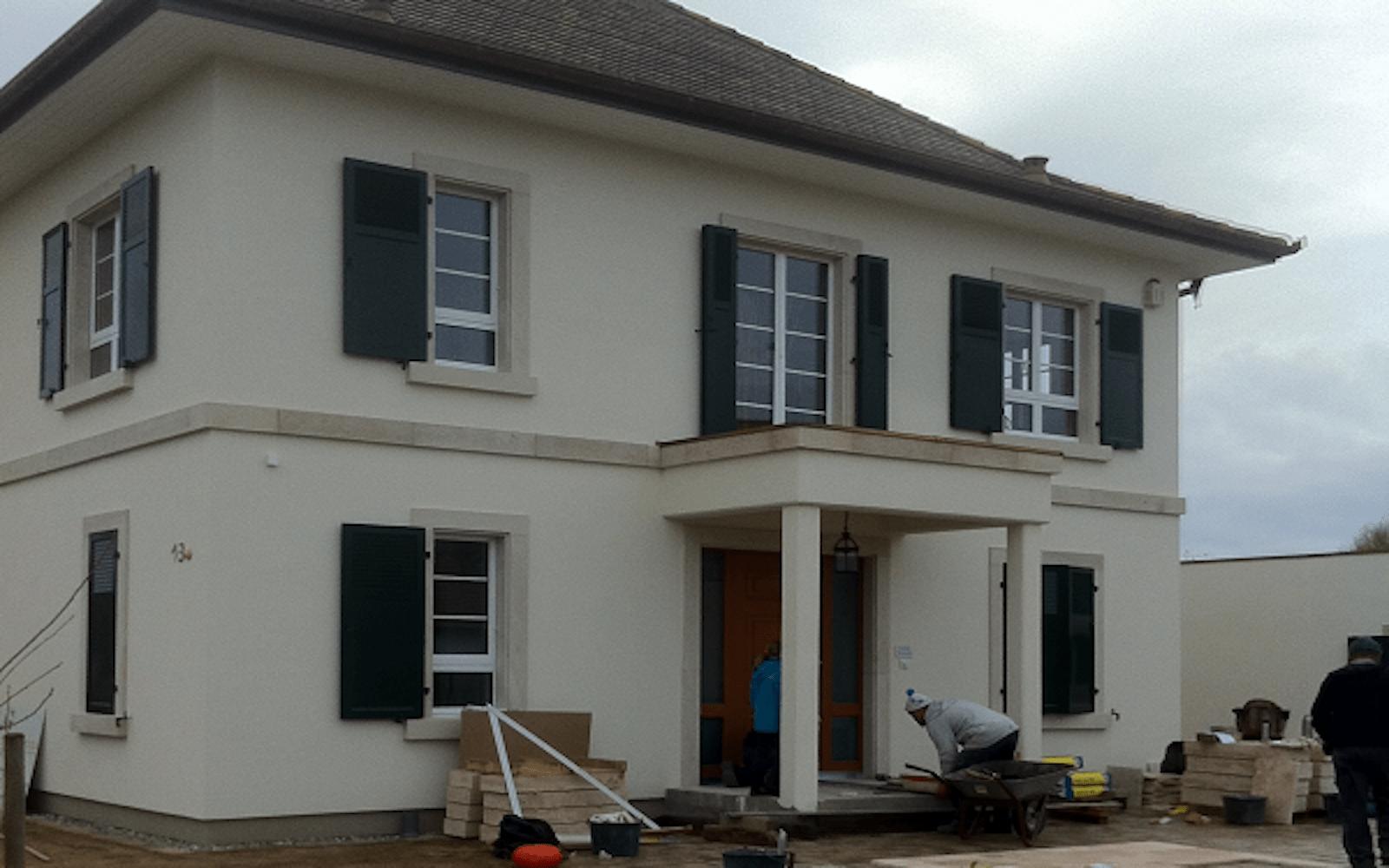 Encadrement d 39 une maison particuli re artisan de la pierre for Maison la pierre