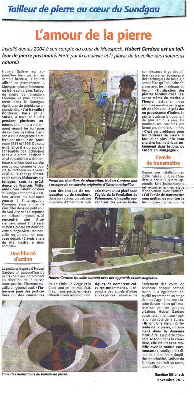 Presse - 3 novembre 2013
